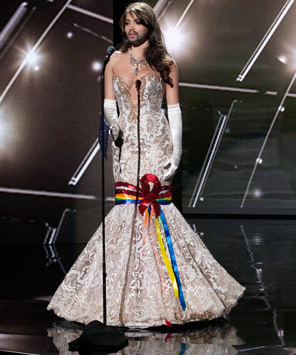 Miss Austria as Conchita Wurst