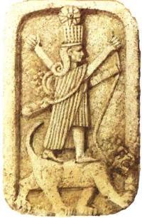Ishtar rides a lion