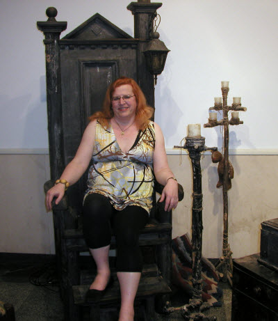 Me on the wizard's throne