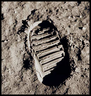 Armstrong's footprint on the Moon