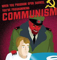 Open Source Communism - image from Mashable page linked to in text