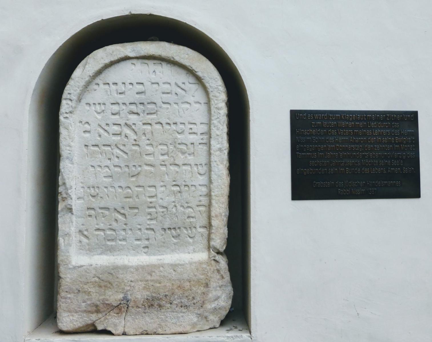 Memorial for a rabbi